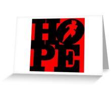 Hope - Goku (black) Greeting Card