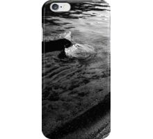 Black and White - allegheny river beach (2009) iPhone Case/Skin