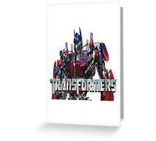 Transformers Greeting Card