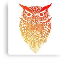 Owl orange gradient Canvas Print