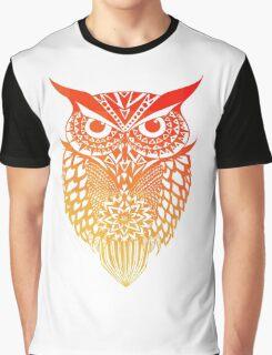 Owl orange gradient Graphic T-Shirt