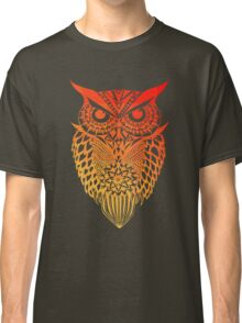 Owl orange gradient Classic T-Shirt