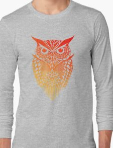 Owl orange gradient Long Sleeve T-Shirt