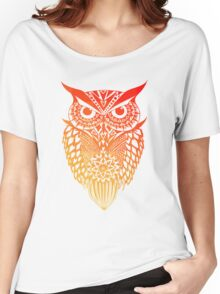 Owl orange gradient Women's Relaxed Fit T-Shirt