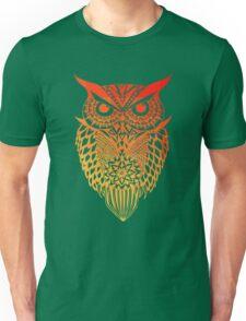 Owl orange gradient Unisex T-Shirt