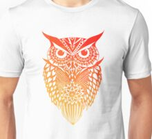 Owl orange gradient Unisex T-Shirt