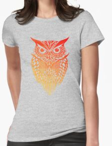 Owl orange gradient Womens Fitted T-Shirt