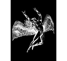 ICARUS THROWING THE HORNS - white Photographic Print