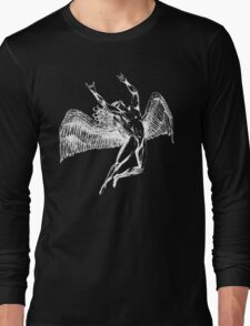 ICARUS THROWING THE HORNS - white Long Sleeve T-Shirt