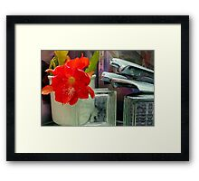 The Sonic Boom Bloom Room - Texturized Framed Print