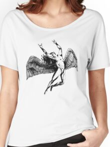 ICARUS THROWS THE HORNS - black Women's Relaxed Fit T-Shirt