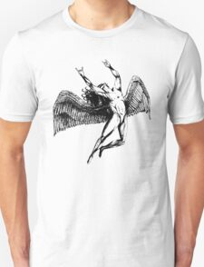 ICARUS THROWS THE HORNS - black T-Shirt