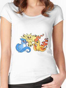 Pokemon Kanto legendary birds Women's Fitted Scoop T-Shirt