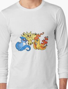 Pokemon Kanto legendary birds Long Sleeve T-Shirt