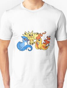 Pokemon Kanto legendary birds Unisex T-Shirt