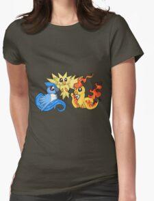Pokemon Kanto legendary birds Womens Fitted T-Shirt