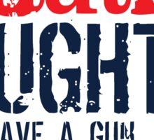 gun alibi Sticker