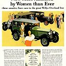 Car Ad Ladies Home Journal 1928, Willys-Knight Six & Whippet by coralZ