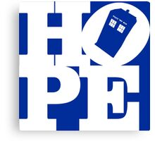 Hope - Doctor Who Canvas Print