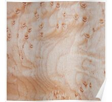 Unique eye maple wood design Poster