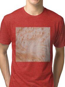 Unique eye maple wood design Tri-blend T-Shirt