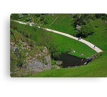 Dovedale Footpath from Thorpe Cloud Canvas Print
