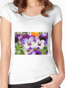 violet in the garden Women's Fitted Scoop T-Shirt