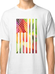 Multicolor USA Flag, Stars & Stripes, America Classic T-Shirt