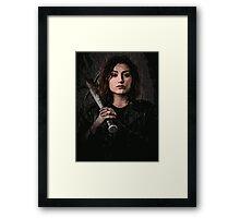 Z nation - Addison portrait Framed Print