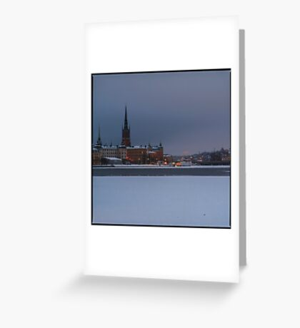 Winter in Stockholm Greeting Card