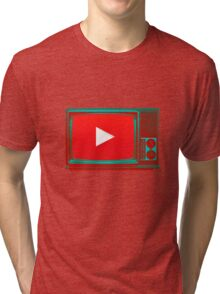 Youtube vintage tv Tri-blend T-Shirt