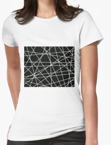 White Lattice Womens Fitted T-Shirt