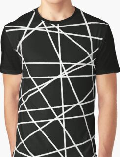 White Lattice Graphic T-Shirt
