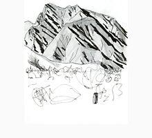 Desert mountains Womens Fitted T-Shirt
