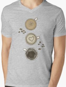 Coffee Love Mens V-Neck T-Shirt