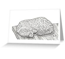 wiggly cat Greeting Card