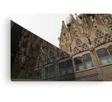 Reflecting on Sagrada Familia, Antoni Gaudi's Masterpiece Canvas Print