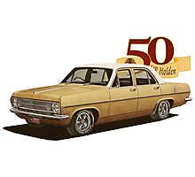 HR Holden Sedan - 50th Anniversary - Gold Photographic Print