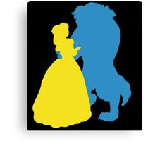 Beauty and a beast Canvas Print