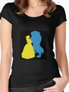 Beauty and a beast Women's Fitted Scoop T-Shirt