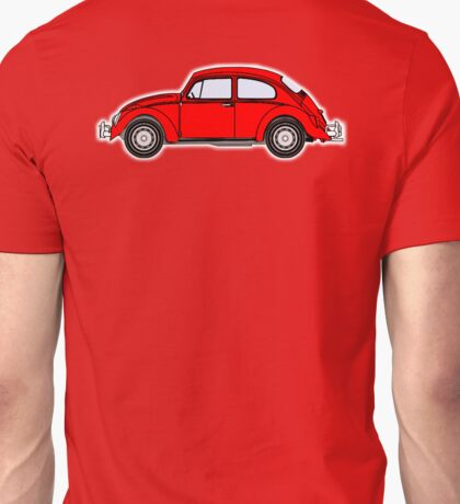 VW, Volkswagen, Beetle, Bug, Motor, Car, RED Unisex T-Shirt