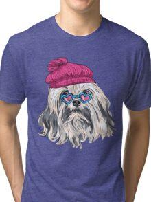 Dog Lion Bichon (Lowchen)  Tri-blend T-Shirt