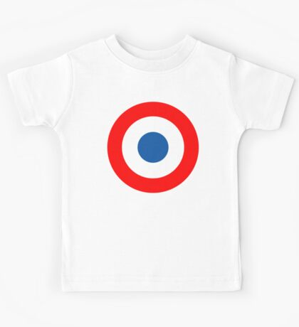 Roundel, Tricolore, cockade, French, Air Force, Bullseye, combat, aircraft, First World War Kids Tee