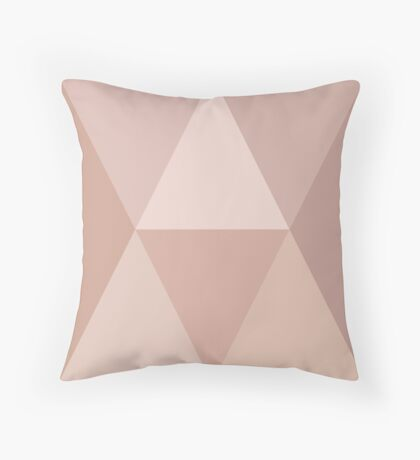 2 triangles interlaced in blush Throw Pillow