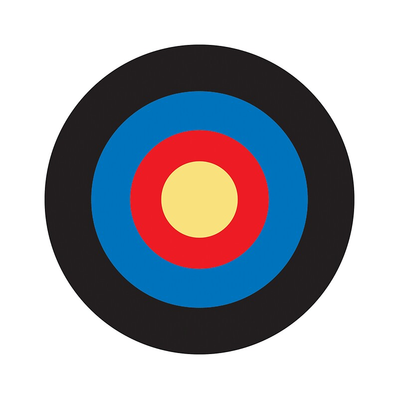 """BULLS EYE, SMALL, Target, Archery, Right on target, Navy"