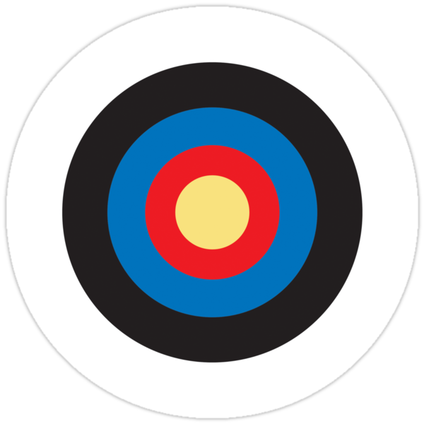 BULLS EYE, SMALL, Target, Archery, Right on target, Navy, Blue by TOM HILL - Designer