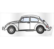 VW, Volkswagen, Beetle, Bug, Motor, Car, WHITE Poster