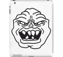 ugly face monster horror halloween grimace eat head iPad Case/Skin