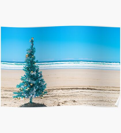 Christmas on the beach Poster
