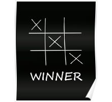 Winner Tic Tac Toe Poster